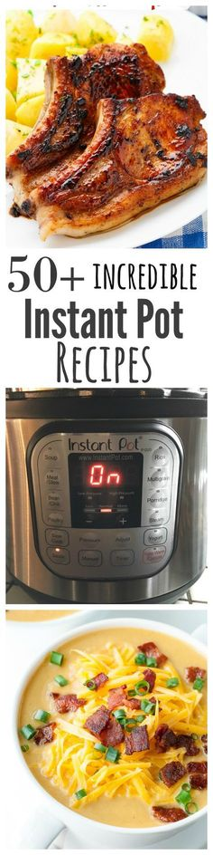 51 Incredible Instant Pot Recipes - the fastest way to create delicious meals in a fraction of the time of traditional cooking. Juicy, delicious and filled with flavour you will love cooking with an Instant Pot andor electric pressure cooker. Power Cooker Recipes, Pressure Cooking Recipes, Crock Pot Cooking, Crockpot Recipes, Healthy Recipes, Easy Cooking, Budget Cooking, Crock Pots, Cooking Time