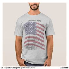 US Flag Bill Of Rights T-Shirt $26.82 on sale! The US Flag is the background image for The Bill of Rights. The first ten amendments to The Constitution of The United States of America are all listed. Amendments 1-5 are listed on the front, Amendments 6-10 are listed on the back. Both have a waving US Flag in the background. Know your Constitution, back it with facts! Patriotic Americans now can carry this with them wherever they go! Visit our store for more of our Patriotic America line of…