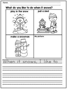 Winter Writing Prompts for Kindergarten