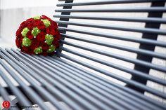 Bruidsboeket met rode rozen, te Aalst