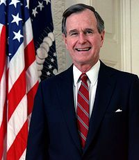 "George Herbert Walker Bush (1924-    ) Age 89. 41st President who served from 1989 to 1993. Famous for the quote, ""Read My Lips, No New Taxes"". Which, in fact, there was new tax incentives initiated during his Administration."