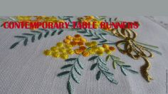 contemporary table runners