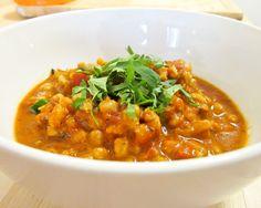 Spicy Tomato Soup with Harissa and Farro