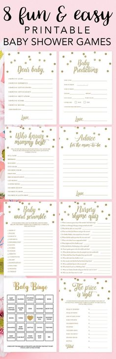 Gold printable baby shower games by LittleSizzle. Click through to instantly download yours or re-pin for later! Twinkle Twinkle themed baby shower ideas. Pink and gold games for baby shower. Download and print your own baby shower games in just minutes and entertain your guests with these popular baby shower games for large groups. You will create lots of fun moments for your guests AND mom-to-be! #babyshowergames #gold #babyshowerideas #pinkandgold #twinkletwinkle #printablegames…