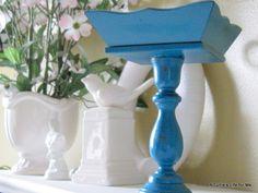 Thrift Store Pedestal Bowl DIY Tutorial from atutleslifeforme.blogspot.com
