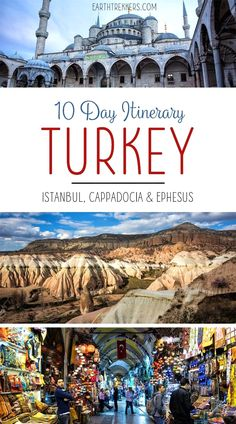 10 Day Turkey Itinerary. Visit Istanbul, the Hagia Sophia, Blue Mosque, Bosphorus River, Grand Bazaar, Topkapi Palace, Cappadocia, Ortihisar, Urgup, Ephesus, and Sirince. Turquia Places to Visit Avoir plus d'informations sur notre site https://storelatina.com/turkey/travelling #detoxification #ไก่งวง #мурғимарҷон #Turkija