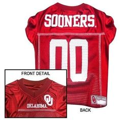 Oklahoma Sooners NCAA Dog Jersey