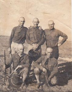 Lice in the Trenches- WWI Soldiers- Shaved Heads