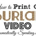 How to print on burlap
