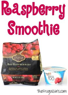 Easy Raspberry Smoothie Recipe from TheFrugalGirls.com