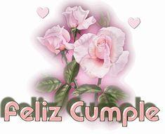 gifs animados con movimiento de flores feliz cumpleaños - Buscar con Google