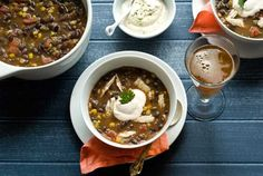 Gluten Free Chipotle Turkey Bean Soup with Chipotle Lime Sour Cream