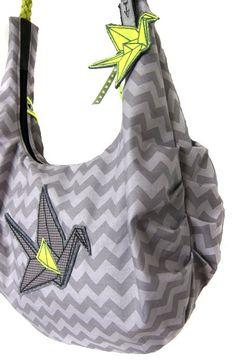 Taschen - Schnittmuster Umhängetasche AS, mit neon-Paspel
