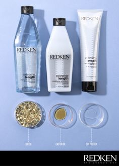 Redken Extreme Length's formula is infused with biotin to help reduce breakage and gently cleanse your strands to help promote strong hair. #haircare #longerhair