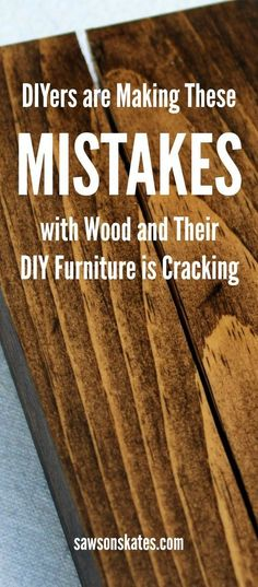 Do you have a DIY furniture project that is cracking? From coffee tables to cutting boards, seasonal changes can cause wood to crack. I'm sharing building tips about how to prevent your wood furniture(Diy Furniture Pallets) Do It Yourself Furniture, Diy Furniture Plans, Diy Furniture Projects, Plywood Furniture, Diy Wood Projects, Wood Crafts, Carpentry Projects, Building Furniture, Furniture Styles