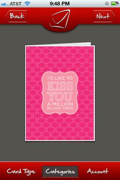 Valentine's Day card - I'd like to kiss you