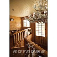 Suspendu de style panache de couleur brun clair, idéal pour salle a manger, chambre, entrée et escalier.