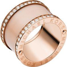 Dieser Roségold Ring von Michael Kors passt perfekt zum gemütlichen Herbstoutfit! Michael Kors Damenring MKJ4332791