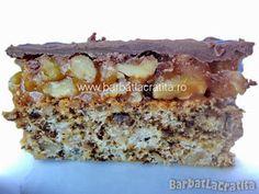 Prajitura cu nuca si crema caramel Romanian Desserts, Creme Caramel, Banana Bread, Dessert Recipes, Yummy Food, Cookies, Food Cakes, Crack Crackers, Creme Brulee