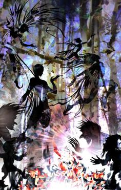 Midsummer's Eve (Forest Magic) by Lois - Use the 'Create Similar' button to commission an artist to create your own artwork. Midsummer's Eve, Magic Forest, Couple Art, Forests, Art Sketches, Alice In Wonderland, Anime Art, Illustration Art, Button