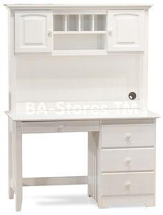 White Wooden Desk With Storage
