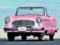 Nash Metropolitan Pink 1960.