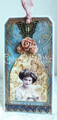 Beautiful altered chic tag ♥