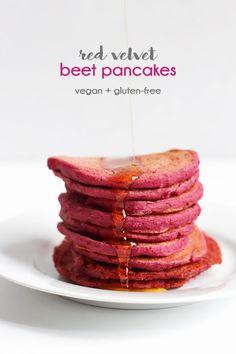 red valentine pancakes