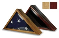 Police Flag Display Box For 5ft X 9.5ft Flag Hand Made By Veterans