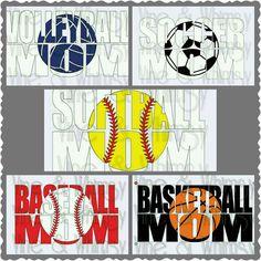 Volleyball Mom, Soccer Mom, Softball Mom, Basketball Mom, volleyball decal, soccer bumper sticker, custom basketball car decal, personalized
