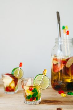Gummy bear sangria?! This is too strange to not pin. Gummy bear infused vodka does sound strangely appealing!
