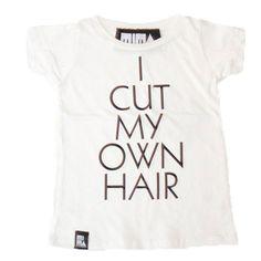 Style: Eleven Wardrobe Picks For Rad Kids  (It happens! I cut my hair tee via Little Pinwheel)