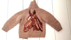 Vintage Cowichan Cardigan Sweater Vest Horse Childrens AS IS Zip Up Jacket #Unknown