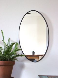 Oval Mirror Handmade Wall Mirror Frameless Wall Mirror Miroir Round Oblong Circle  > > > This item is made to order. Please allow up to three weeks for