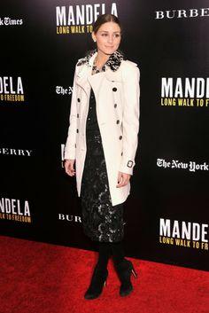 THE OLIVIA PALERMO LOOKBOOK: Olivia Palermo and Johannes Huebi at Burberry and Anna Wintour screening of Mandela