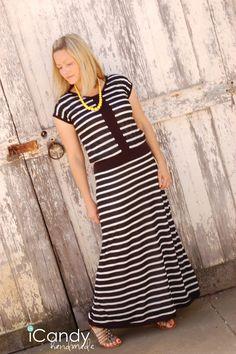 icandy handmade: (tutorial) Hint of Vintage Maxi Dress