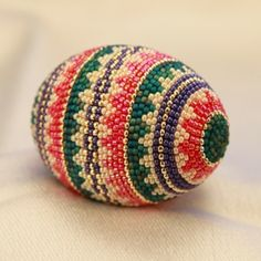 Springtime Kaleidoscope Hand Beaded Egg from Pueblo & Company for $49.99 on Square Market