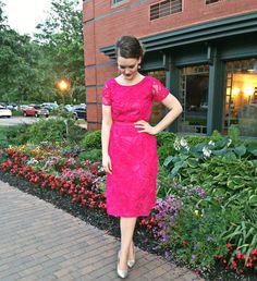Flossie, The Florence Adams Blog: FUCHSIA DRESS DIY