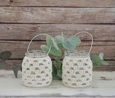Idea: Canastitas recicladas al crochet / Crocheted and repurposed baskets - Tejido Facil Repurposed, Crochet Earrings, Basket, Jar, Cool Stuff, Crafts, Instagram, Home Decor, Mini