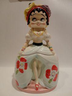 Betty Boop Cookie Jar made in Japan by Vandor