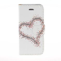 Kinston Big Heart lille hjerte mønster PU Læder Full Body etui med holder til iPhone 5/5S – DKK kr. 55