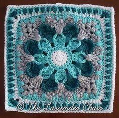 Crochet Granny Square Design crazy-daisy-mandala-crochet-square-pattern - Crazy Daisy Mandala Crochet Square Pattern by the The Lavender Chair a of the Mandala Blanket CAL. Size: x Pattern More Patterns Like This! Crochet Crafts, Crochet Yarn, Crochet Stitches, Crochet Projects, Free Crochet, Crochet Mandala Pattern, Granny Square Crochet Pattern, Crochet Blanket Patterns, Crochet Granny