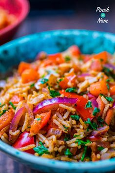 This syn free indian fried rice recipe is easy to prepare, quick to cook and mega tasty if you add the right ingredients. chinese stir fry is the norm, Fried Fish Recipes, Rice Recipes, Indian Food Recipes, Healthy Recipes, Slimming World Vegetarian Recipes, Slimming Recipes, Indian Cookbook, Slimming Eats, Healthy Work Snacks