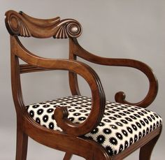 Set of Fourteen Scottish Late Regency Mahogany Dining Chairs | From a unique collection of antique and modern dining room chairs at https://www.1stdibs.com/furniture/seating/dining-room-chairs/