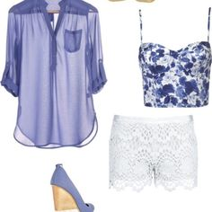 Summer outfit! ☀but I'd have to find flats for it and a longer top