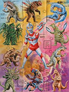 Ultraman Jack and his foes.