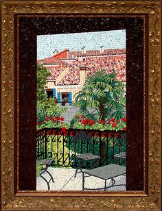 Orsoni Master Course Classroom View – Venice, Italy – L'entrata Mosaic – Mosaic Artist – Jacqueline Iskander – Tulsa, Oklahoma | Mosaic Art Source