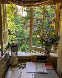 Home Interior, Interior Design, Cottage In The Woods, Cottage Style, Witch Cottage, Irish Cottage, Aesthetic Bedroom, Aesthetic Art, Dream Rooms