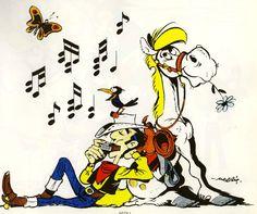 Lucky Luke & Jolly Jumper (by Morris) Dalton Lucky Luke, Bd Lucky Luke, Marvel Cartoon Movies, Cartoon Characters, Tv Movie, Comic Art, Comic Books, Dylan Dog, Jordi Bernet