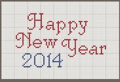 "The Nebby Needle: Stitch In The New Year! ""Happy New Year 2014!"" #cross-stitch"